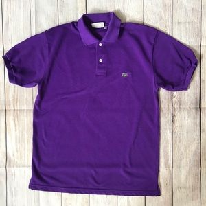 Chemise Lacoste Short Sleeve Purple Polo Size XL